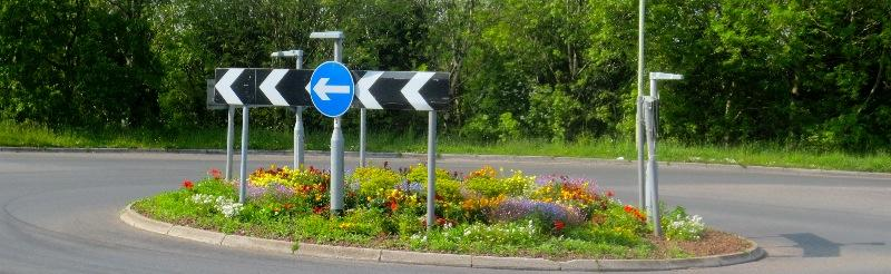 Dees Roundabout at Whiddon Down